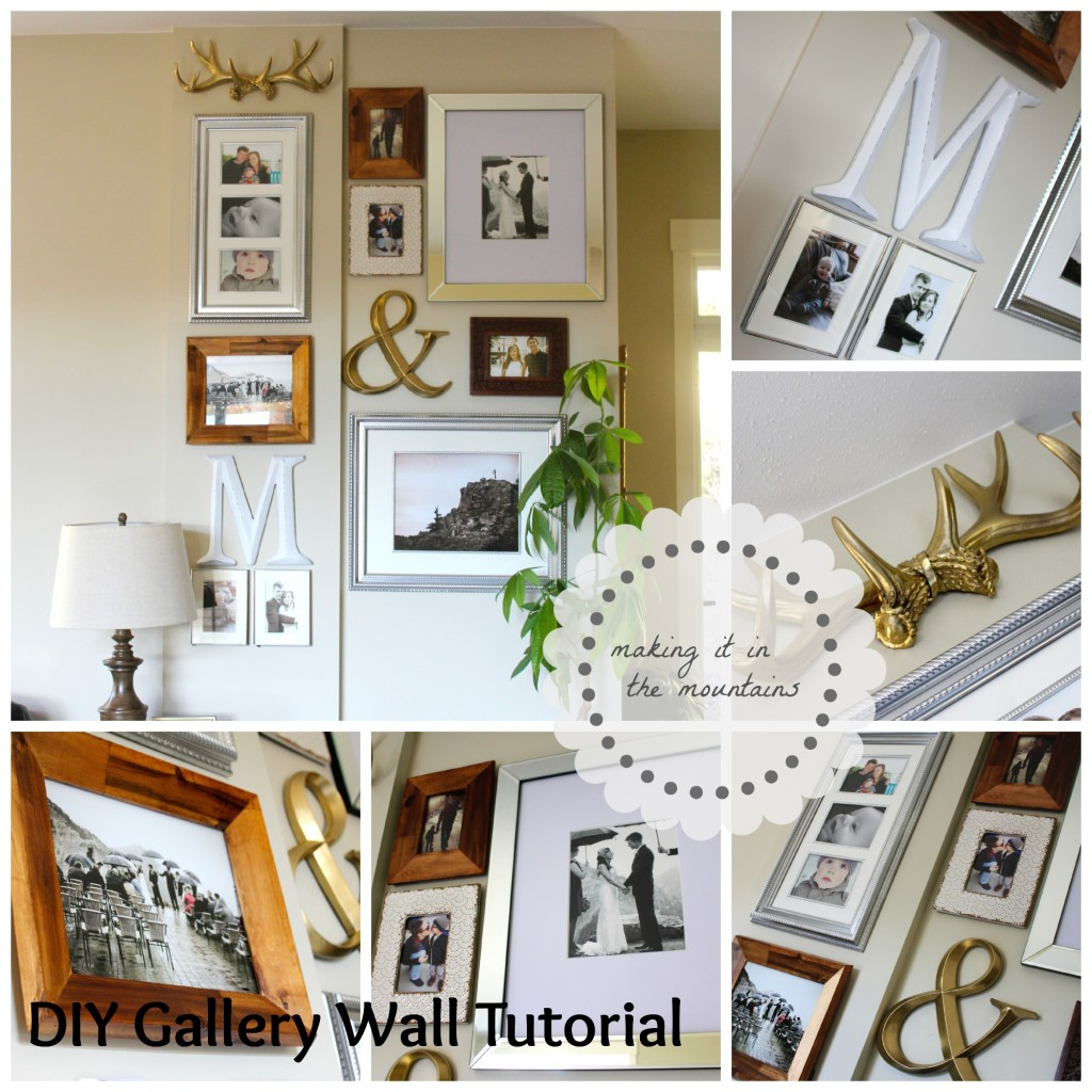 DIY Gallery Wall Tutorial Making It In The Mountains