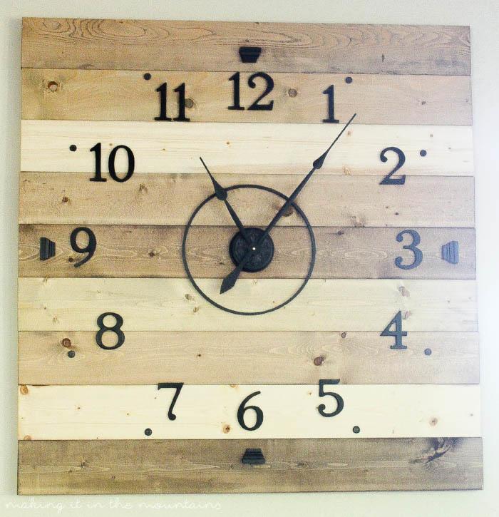 Diy Clock Part - 34: At 4ft Square, This Rustic DIY Clock Canu0027t Help But Make A BIG