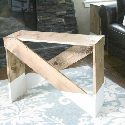 Paint Dipped DIY End Tables