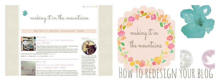 How to Redesign your Blog @ making it in the mountains
