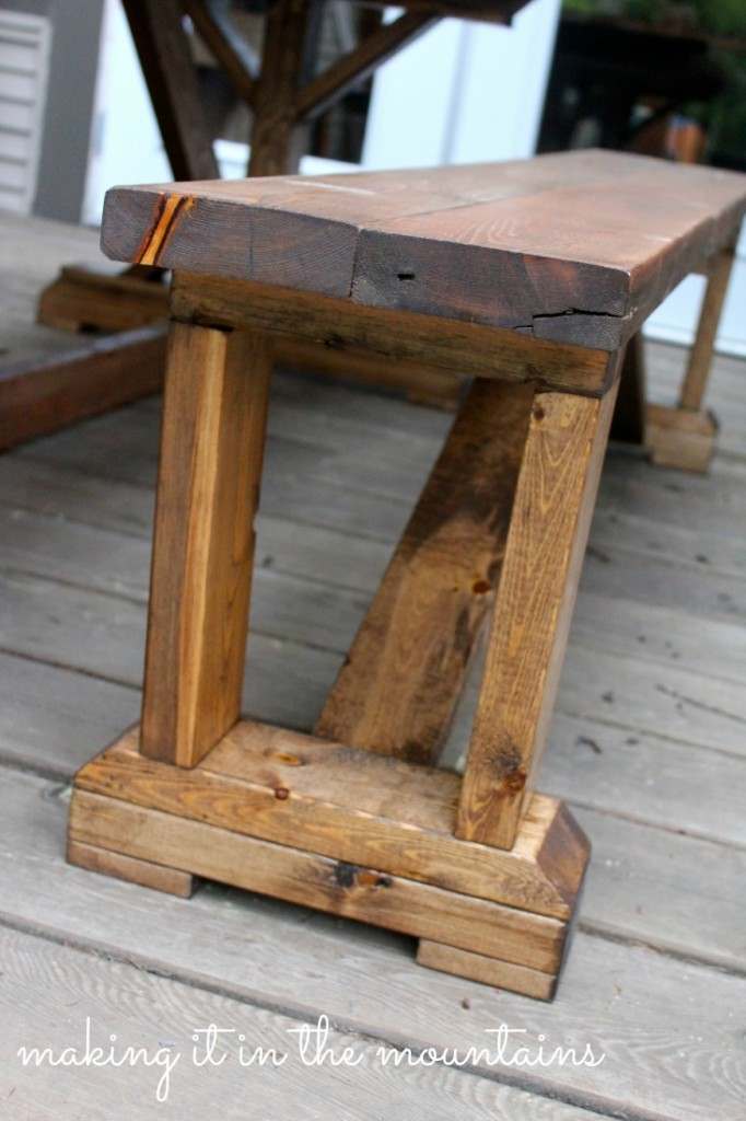 DIY Pottery Barn Inspired Table @ making it in the mountains