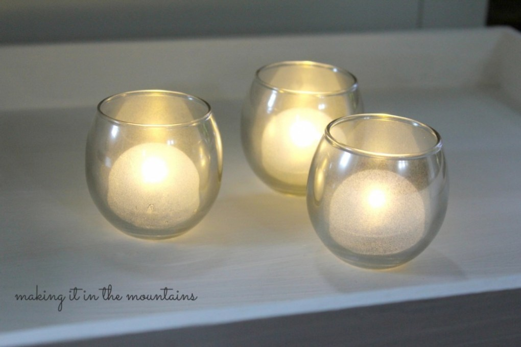 DIY Mirrored Glass Candle Holders @ making it in the mountains