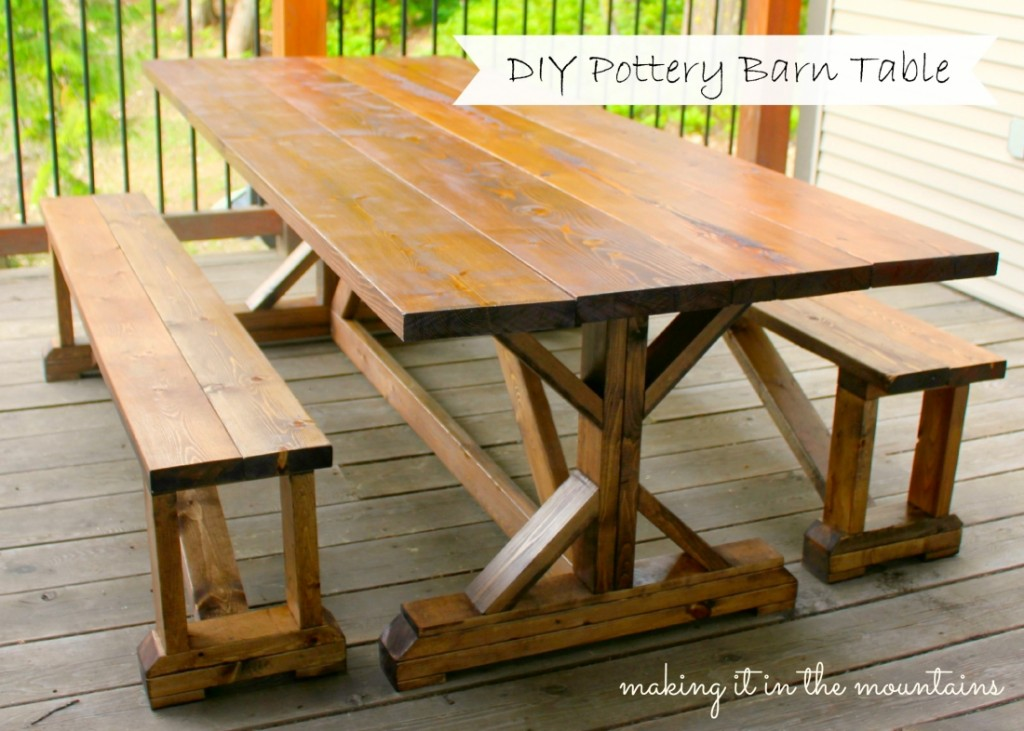 Incredible Diy Pottery Barn Inspired Table Home Interior And Landscaping Analalmasignezvosmurscom