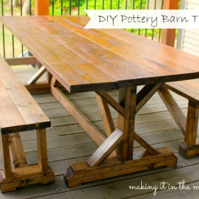 Outdoor Makeover Challenge – Week 2: DIY Pottery Barn Table Knockoff
