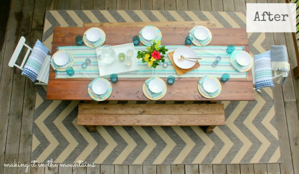 Outdoor Makeover Challenge After - Final Reveal @ making it in the mountains