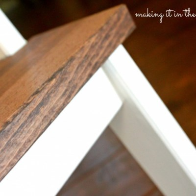 A SUPER Quick and Easy IKEA Step Stool Makeover
