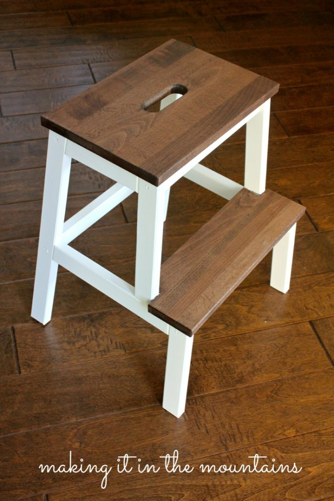 a quick and easy ikea step stool makeover. Black Bedroom Furniture Sets. Home Design Ideas