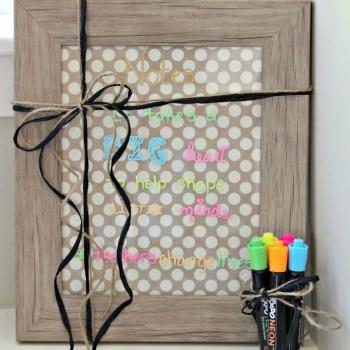 DIY Dry/Wet Erase Board