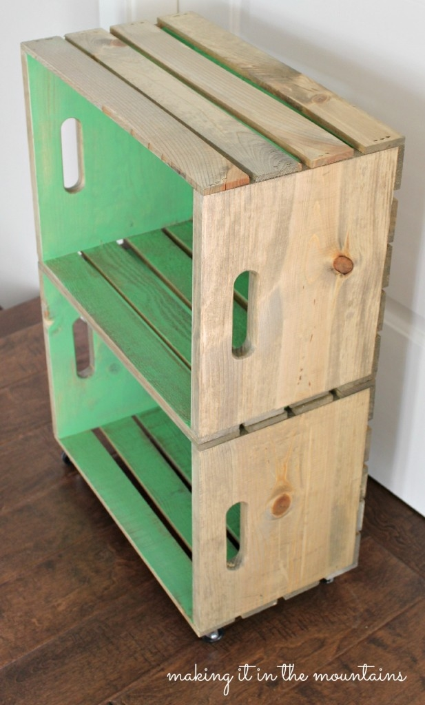 fine wood crate bedside table 8