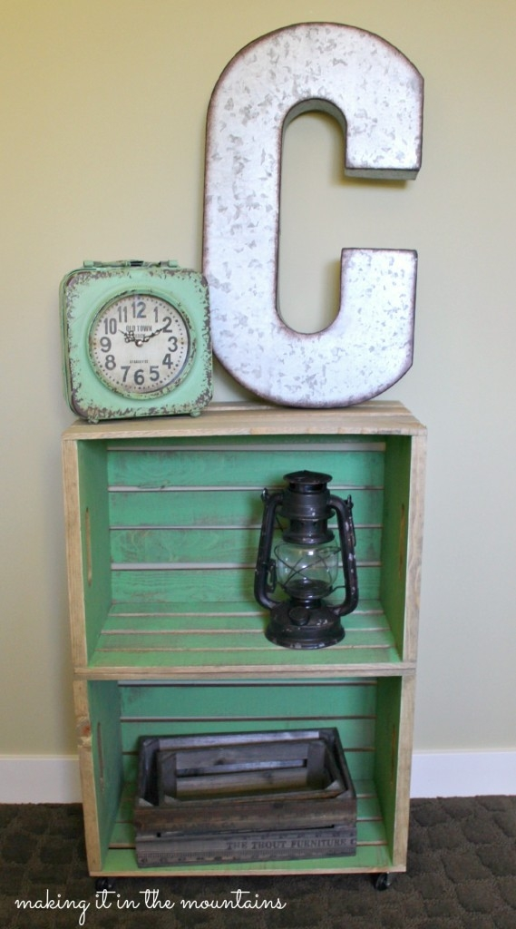 good wood crate bedside table furniture