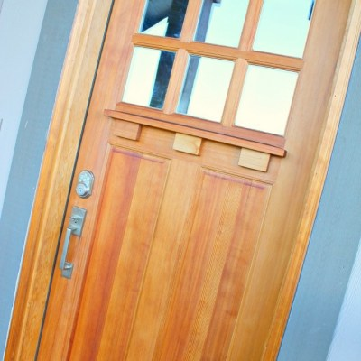 The Easiest Way to Refresh your Craftsman Style Door