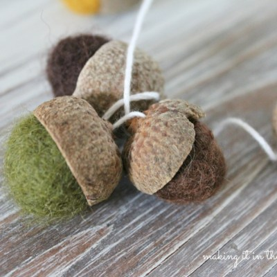 {All Things Fall} :: Felted Acorn Garland