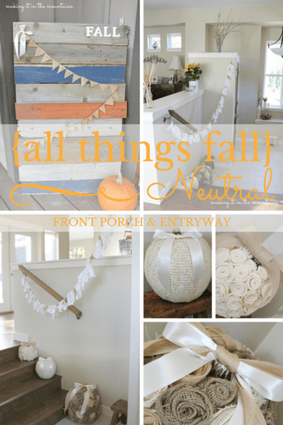 {all things fall} :: Fall Porch & Entryway at making it in the mountains #FallDecor #FallPorch