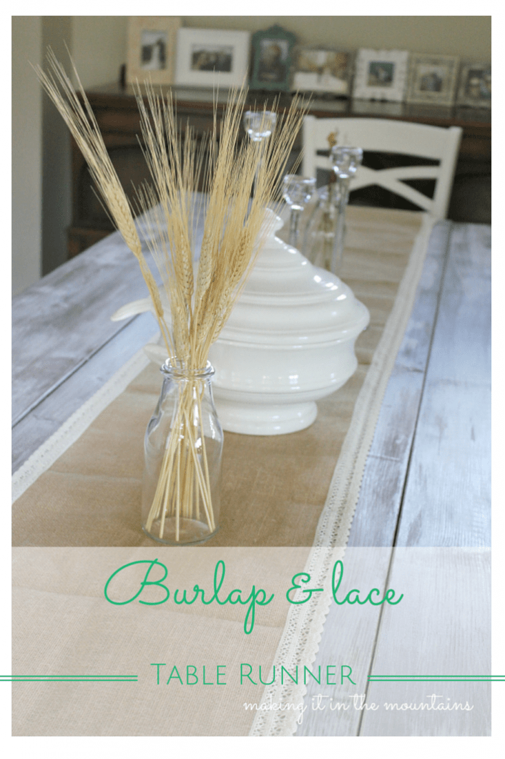 Burlap Lace Table Runner Making It In The Mountains