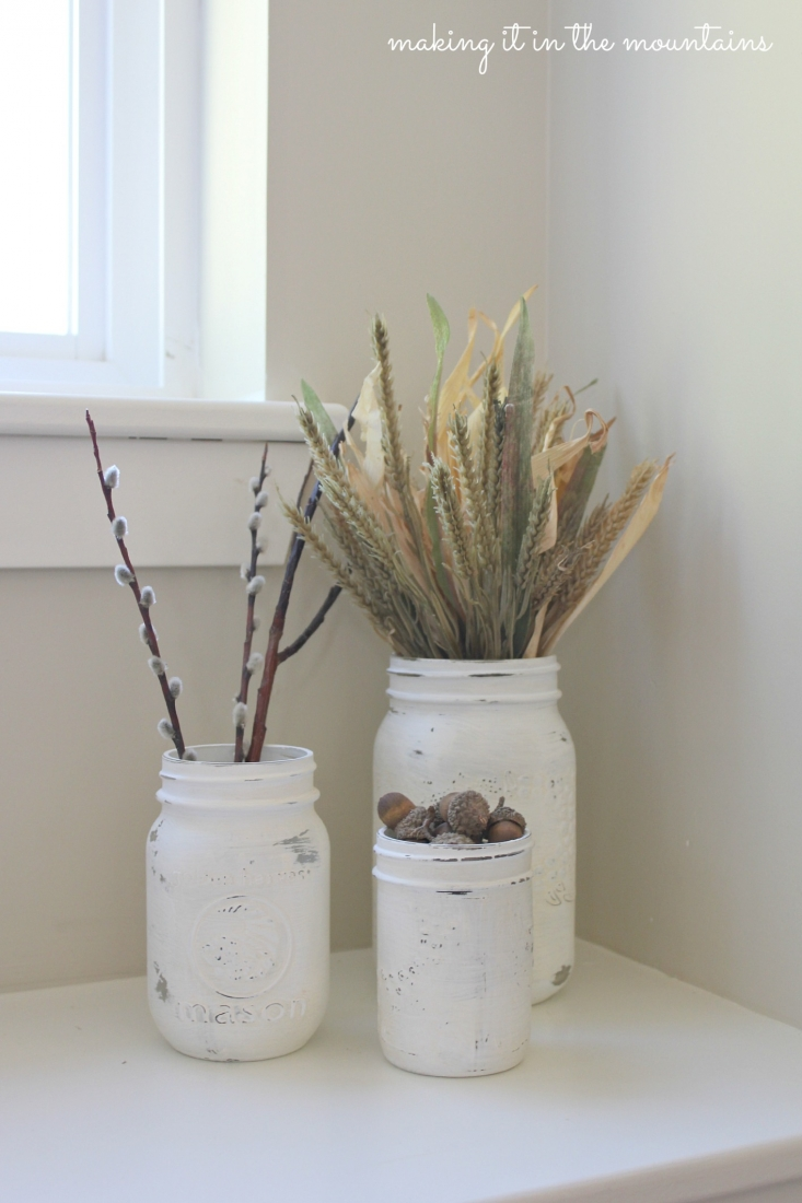 Painted Mason Jars All Things Fall Chalk Painted Mason Jars Making It In The
