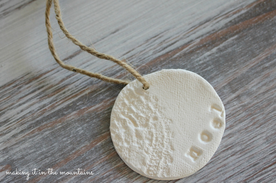 Rustic Clay Christmas Ornaments - making it in the mountains