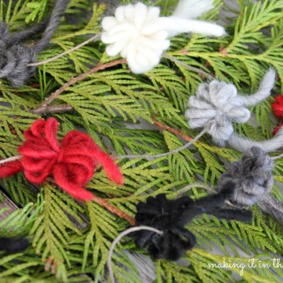 Rustic Christmas Tree Garland