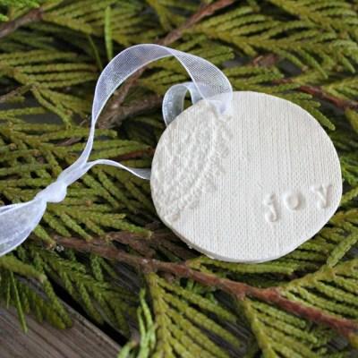 Rustic Handmade Clay Christmas Ornaments