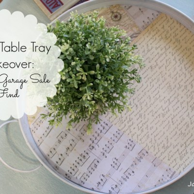 Coffee Table Tray Makeover
