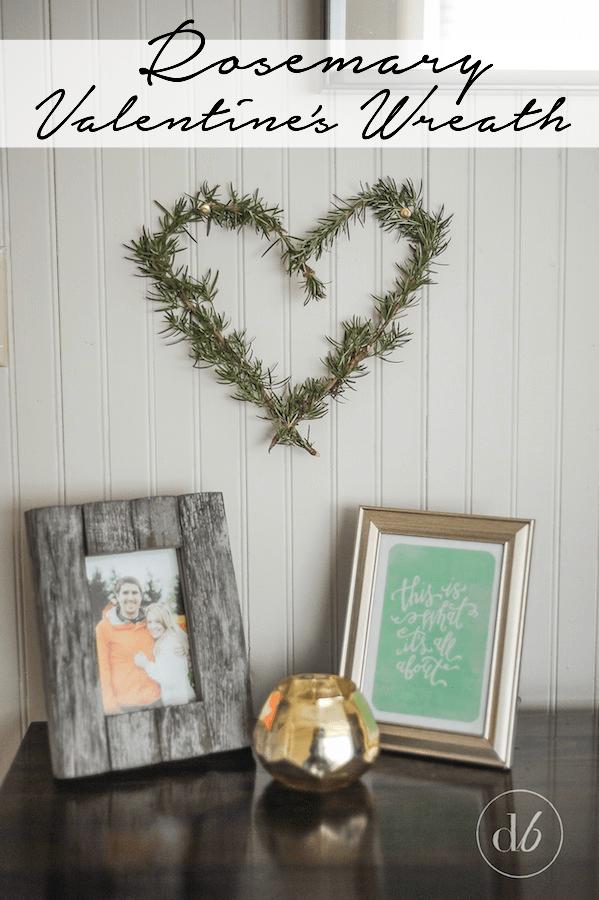 rosemary valentines wreath