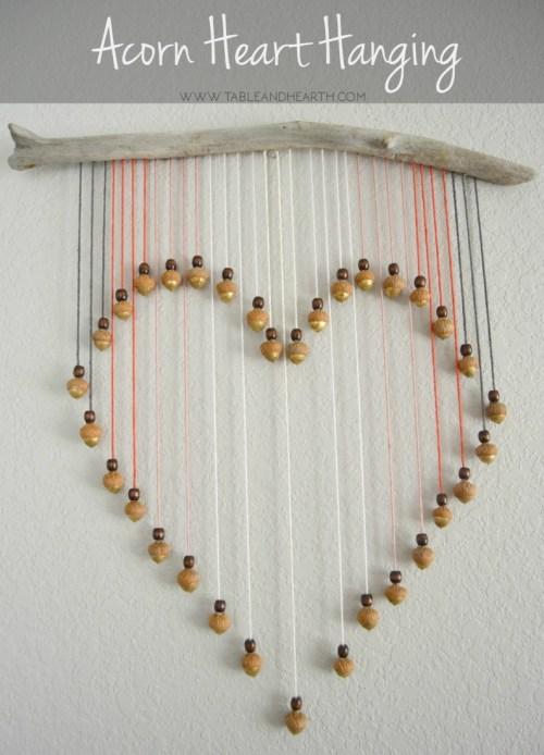 Acorn Heart Hanging