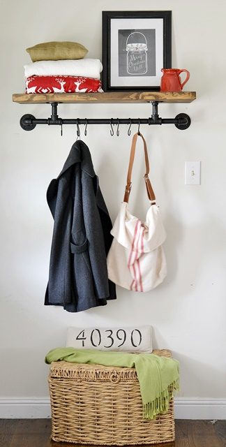 Industrial Inspired Coat Hanger