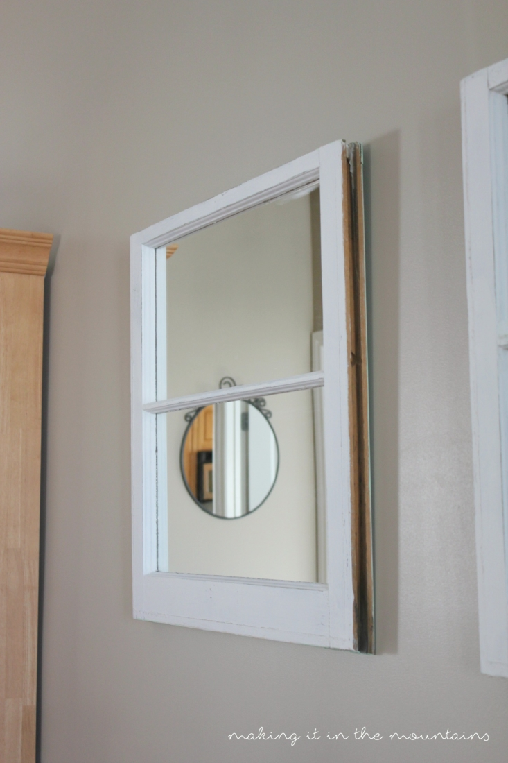 How to make your own vintage window mirrors making it in for Build your own window