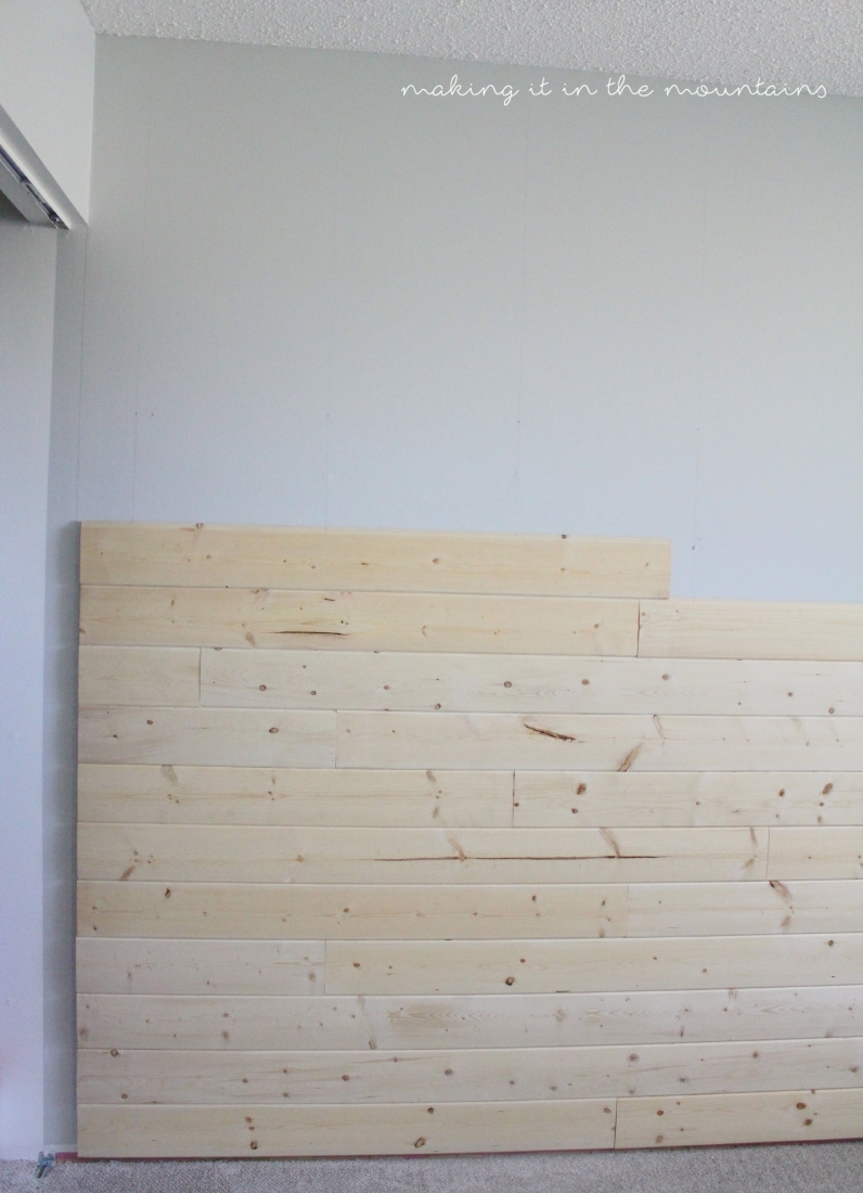 One Room Challenge: Plank Wall Progress