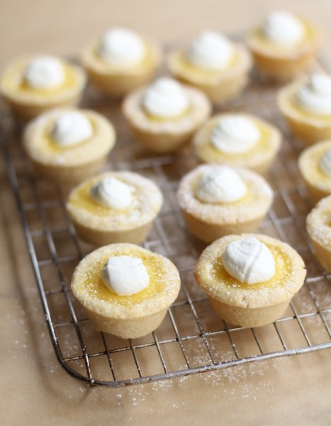 Sugar Cookie Lemon Tarts