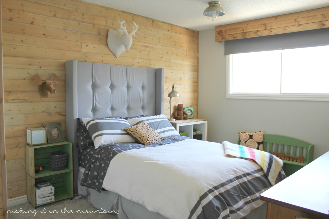 one room challenge rustic boyu0027s bedroom making it in the mountains