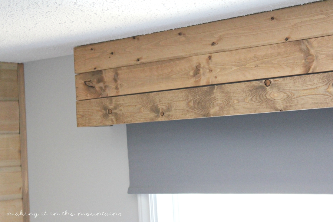 Rustic DIY Window Valance - making it in the mountains