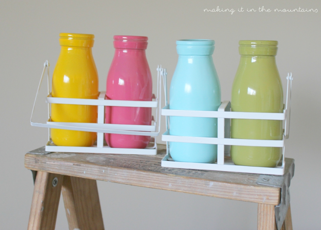 Bright cheery spring milk bottle vases making it in the mountains these bright cheery milk bottle vases were so perfect for summer youll reviewsmspy