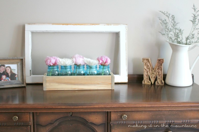 Scrap Wood and Mason Jar Planter Box   making it in the mountains