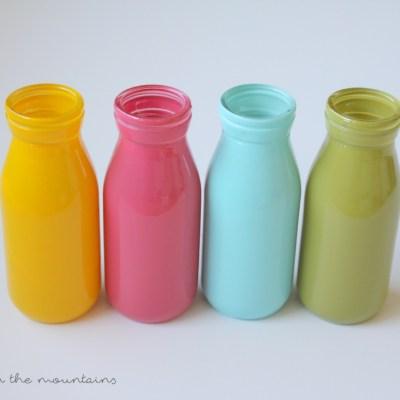 Bright & Cheery Spring Milk Bottle Vases