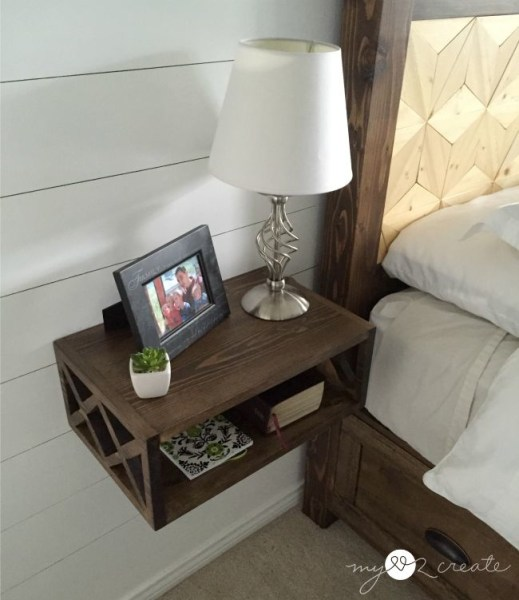 DIY Floating Night Stand