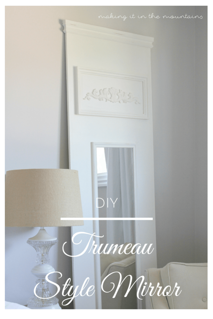 Have you been crushing on this high-end vintage look, but not loving the pricetag?  Why not make your own DIY Trumeau Mirror for just a fraction of the cost!  You'll never believe how simple it is to make!