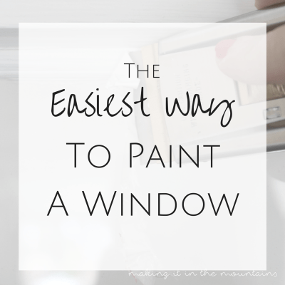 The Easiest Way to Paint a Window (without taping)!