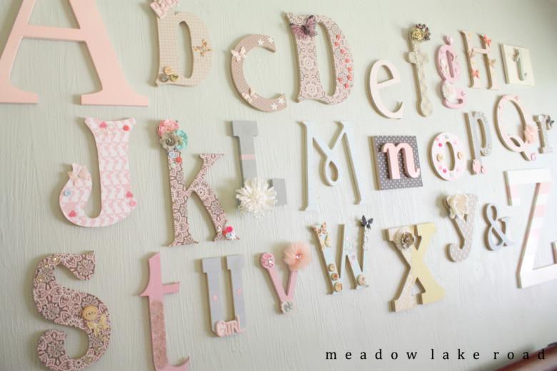 Nursery Alphabet Wall Art