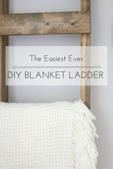 Looking for the perfect way to display those extra blankets? This DIY Blanket Ladder was SO easy to make that I had it all put together in less than 30 minutes!!!