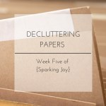 Papers taking over your house? I'm sharing my tips for decluttering and organizing paper for week five of my {Sparking Joy} series.