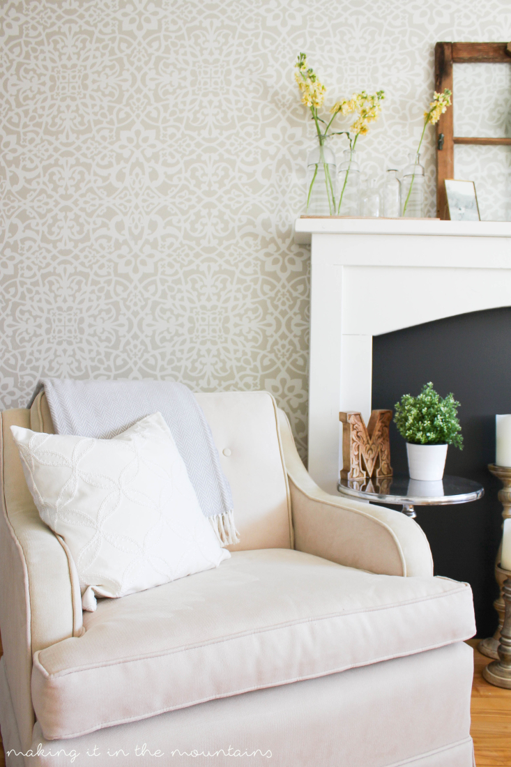 Learn how to style a fireplace with these simple tips!