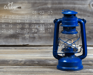 Free October Desktop Calendar!