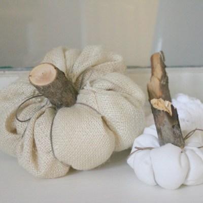 10 Minute Decorating: Farmhouse Style Fabric Pumpkins