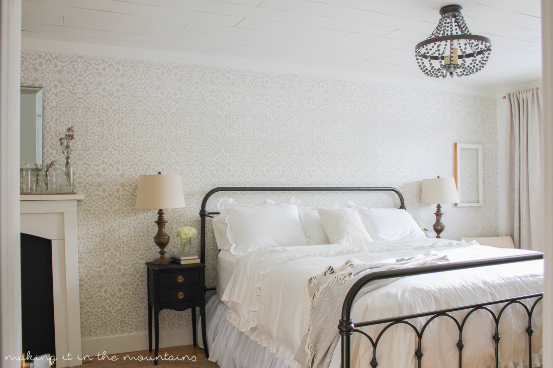 A lovely Farmhouse Bedroom full of all sorts of dreamy details!
