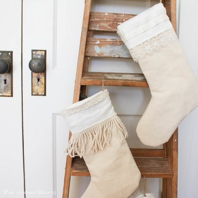 How to make your own Farmhouse Style Christmas Stockings