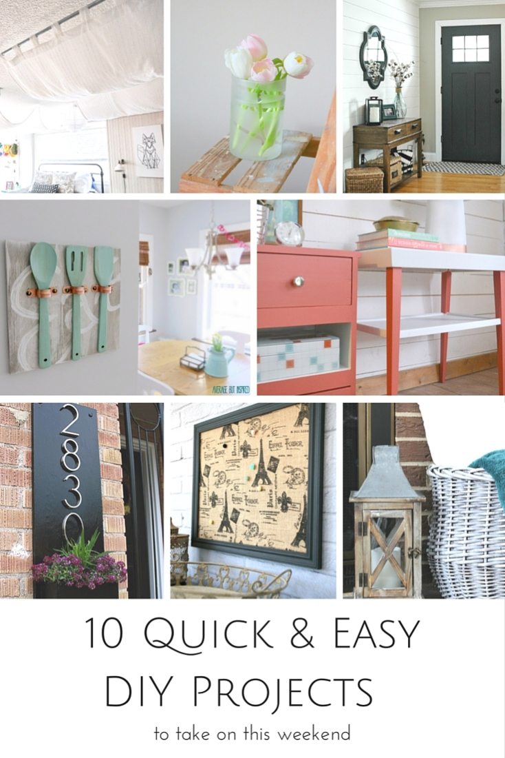 10 Quick & Easy DIY Projects to Take on this Weekend | www.makingitinthemountains.com