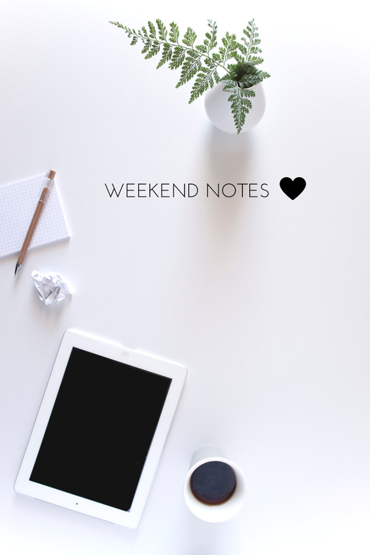 Weekend Notes | www.makingitinthemountains.com