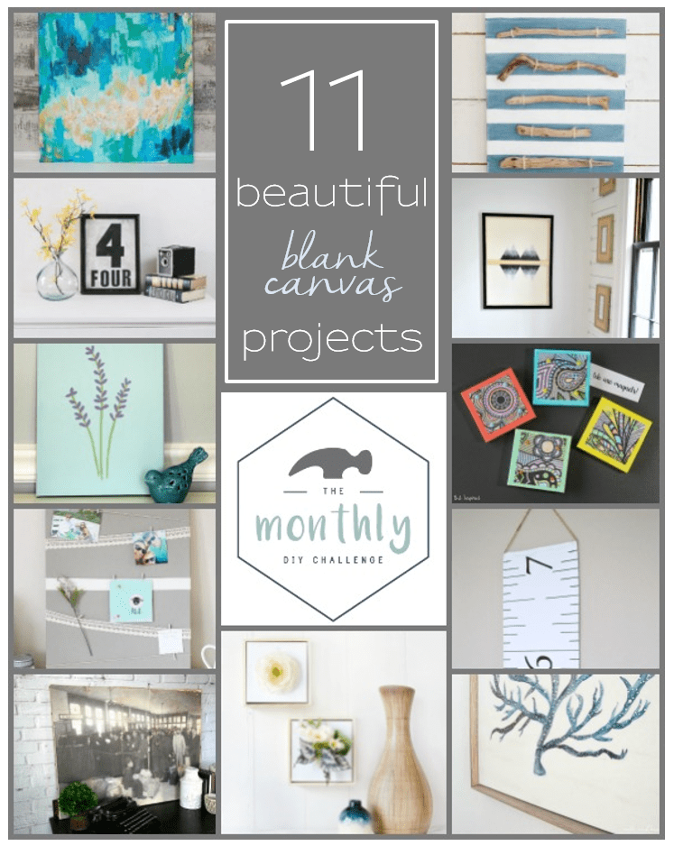 11 Beautiful Blank Canvas Projects | www.makingitinthemountains.com