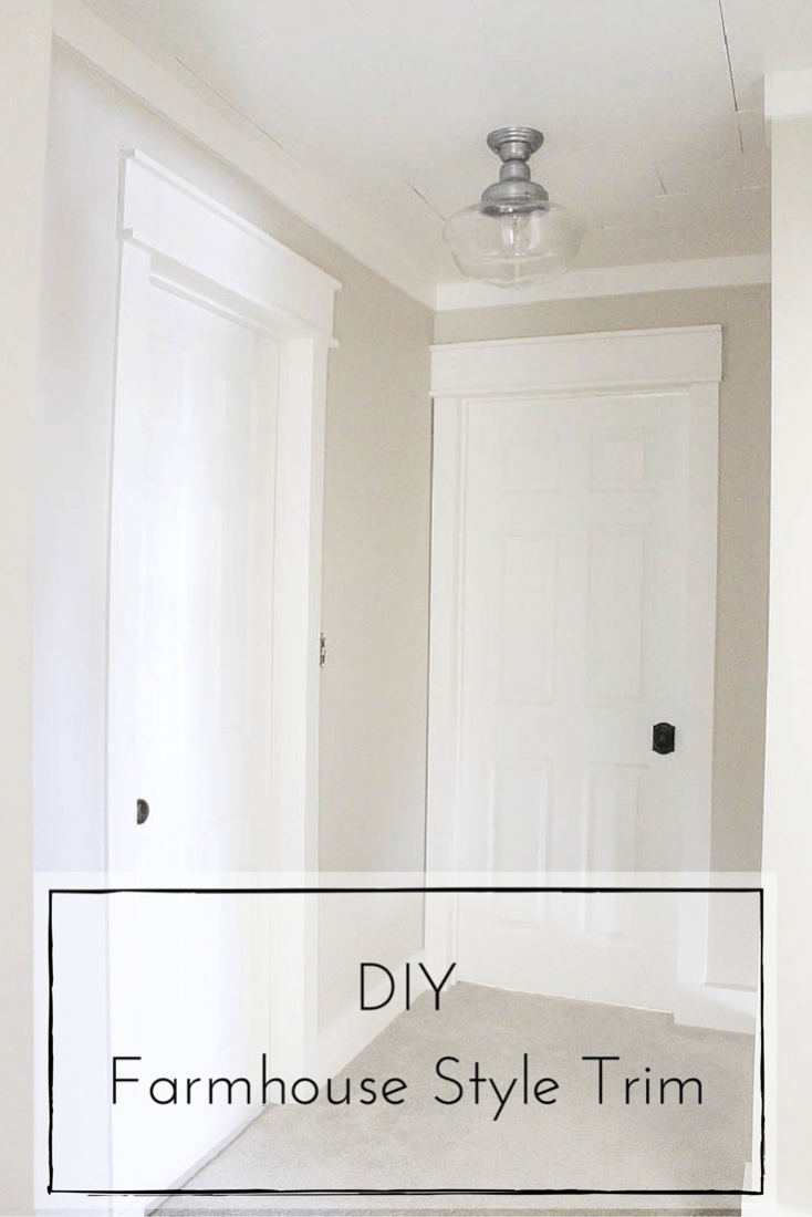 This DIY farmhouse style trim is such a simple and inexpensive way to completely transform the look of your home!   www.makingitinthemountains.com