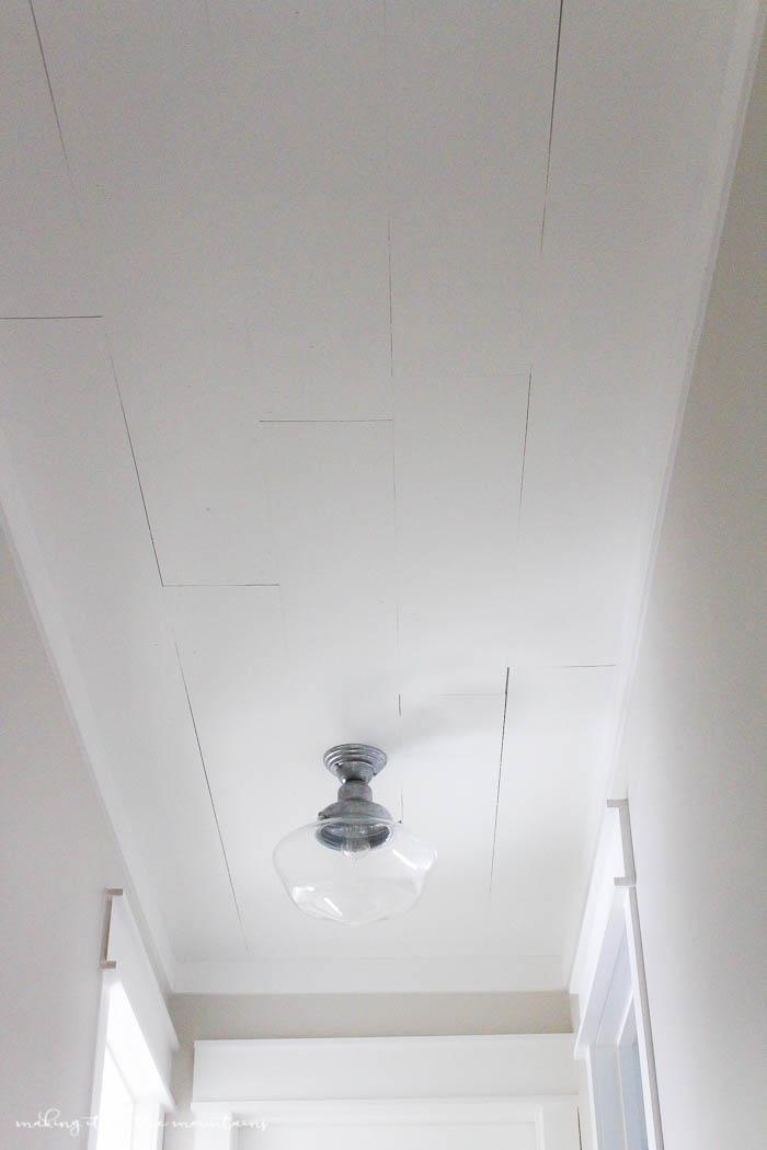 DIY Planked Ceiling | www.makingitinthemountains.com
